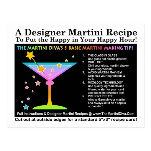 Die Der Martini-der Martini-Spitze-Postkarte Diva