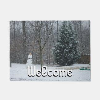 Die Der Schneemann-Winter-Schnee-Fotografie des Türmatte