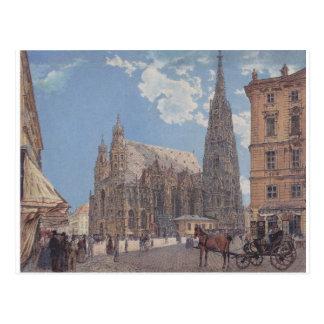 Die des St Stephen Kathedrale in Wien durch Rudolf Postkarte