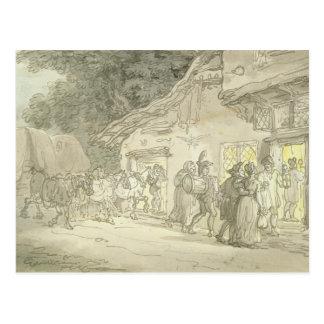 Die des Waggoners Erholung, c.1800-05 (Stift u. Postkarte