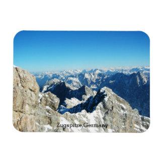 Die deutschen Alpen, Zugspitze, Deutschland Magnet