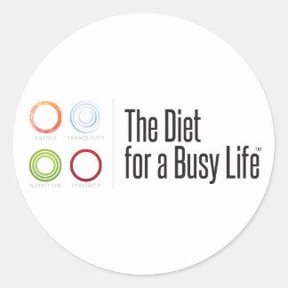 Die Diät für einen beschäftigtes Lebens-motivieren Runder Aufkleber