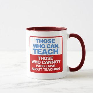 Die, die können, mit berühmtem Zitat unterrichten Tasse