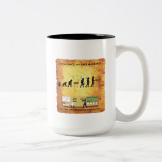 Die diese Kaffee-Tasse intelligente Cavewoman tut Zweifarbige Tasse