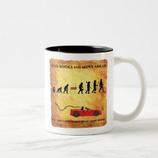 Die diese Kaffee-Tasse intelligente Cavewoman Zweifarbige Tasse