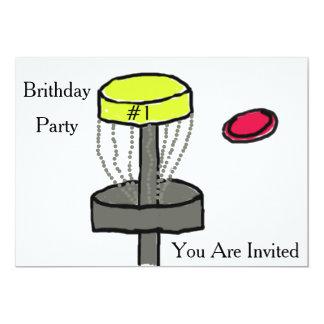 Die Discgolf-Geburtstagseinladung Karte