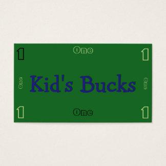 Die Dollars des Kindes Visitenkarte