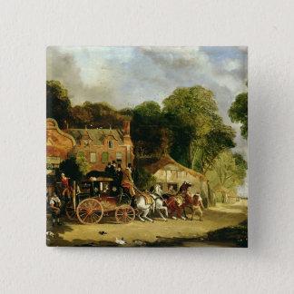 Die Dorking und Londons königliche Post, die das Quadratischer Button 5,1 Cm