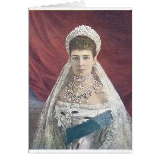 Die dowager-Kaiserin von Russland Karte
