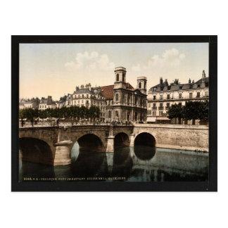 Die Drehbrücke und die Madeleine-Kirche, Postkarte