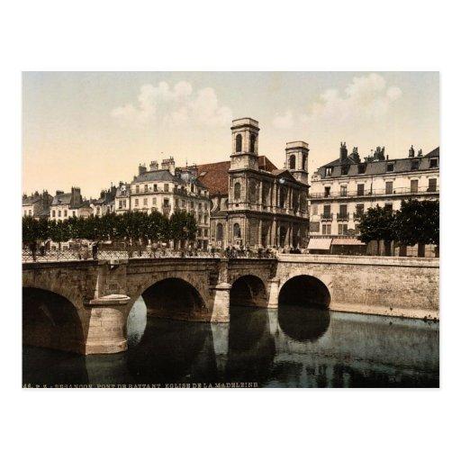 Die Drehbrücke und die Madeleine-Kirche, Postkarten