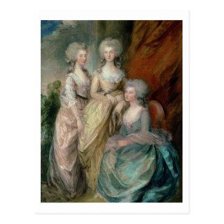 Die drei ältesten Töchter von George III: Postkarte