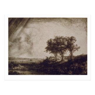 Die drei Bäume Postkarte