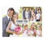 Die drei Foto-Collagen-Hochzeit danken Ihnen Postk