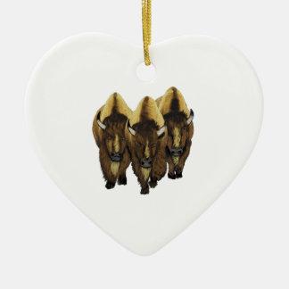 Die drei Freunde Keramik Herz-Ornament