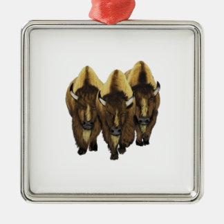 Die drei Freunde Quadratisches Silberfarbenes Ornament