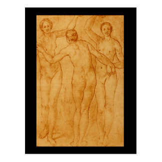 Die drei Graces', Jacopo'_ Studien der Meister Postkarte