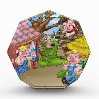 Die drei kleine Schwein-Märchen-Szene Acryl Auszeichnung