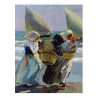 Die drei Segel - Joaquin Sorolla Postkarte