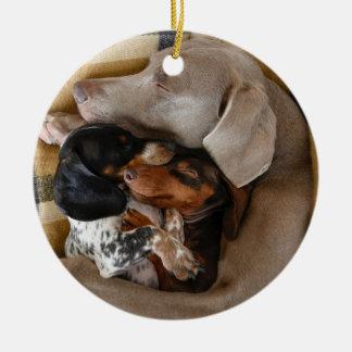 Die drei Snoozes Keramik Ornament