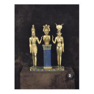 Die Dreiergruppe von Osorkon II, Herrschaft von Postkarte