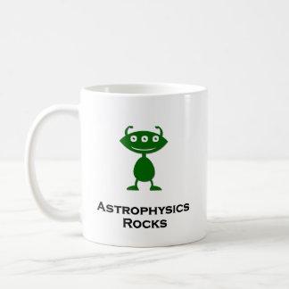 Die dreifache Augen-Astrophysik schaukelt Grün Kaffeetasse