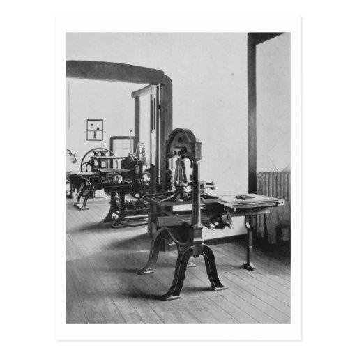 Die Druckarbeiten, von den Werkstätten des Bauh Postkarte