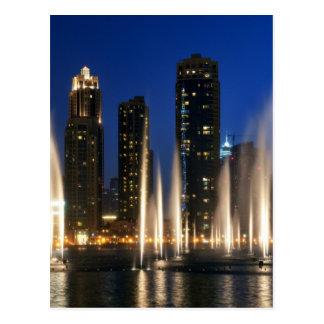 Die Dubai-Brunnen Postkarte