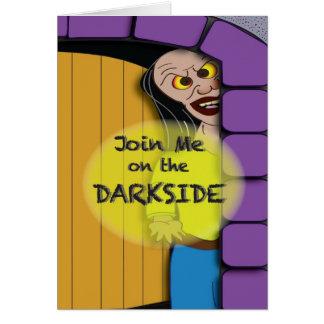 Die dunkle Seite von Halloween Karte