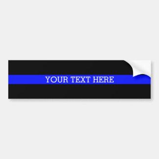 Die dünne blaue Linie - Ihr Text-hier Autoaufkleber