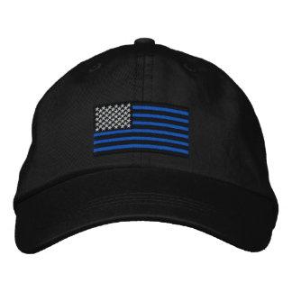 Die dünnen blauen Linien amerikanisch Bestickte Caps