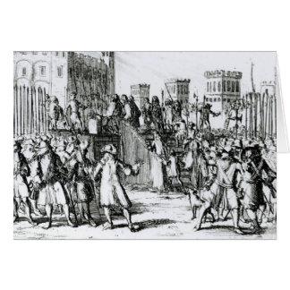 Die Durchführung des Herzogs von Monmouth Karte