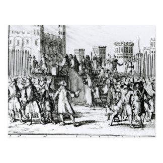 Die Durchführung des Herzogs von Monmouth Postkarte