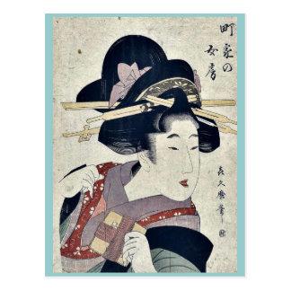 Die durchschnittliche Dorf-Ehefrau durch Kitagawa, Postkarte