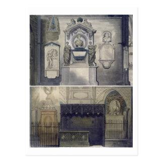 """Die Ecke der Dichter, Platte F von """"Westminster Postkarte"""