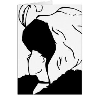 Die Ehefrau oder die Schwiegermutter Grußkarte