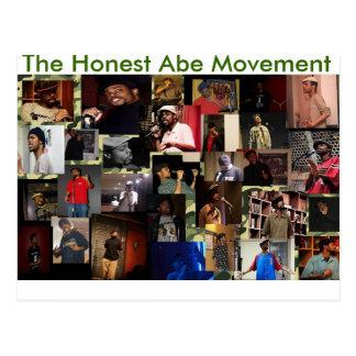Die ehrliche Abe Bewegung Postkarte