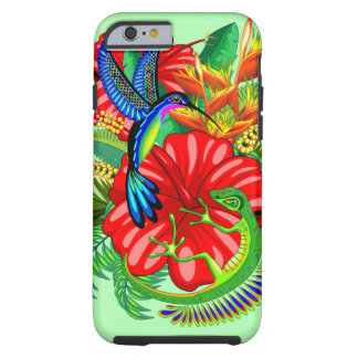 Die Eidechse und der Kolibri Tough iPhone 6 Hülle