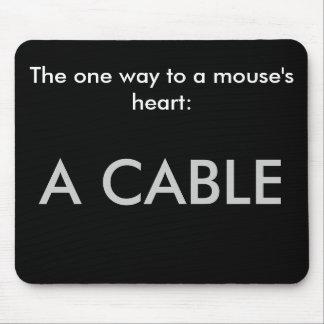 Die eine Weise zum Herzen einer Maus: Ein Kabel Mauspad