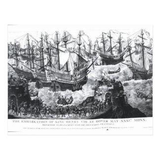 Die Einschiffung von Henry VIII in Dover Postkarte