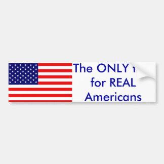 Die einzige Flagge Autoaufkleber