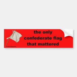 die einzige Flagge der Konföderierten… Autoaufkleber