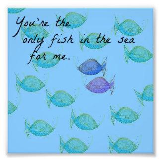 Die einzigen Fische Fotodruck