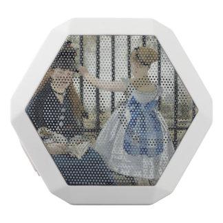 Die Eisenbahn durch Edouard Manet Weiße Bluetooth Lautsprecher