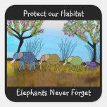 Die Elefant-Lebensraum-Aufkleber
