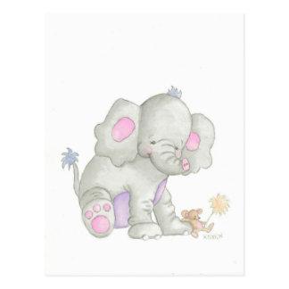 Die Elefant-Postkarte Postkarte