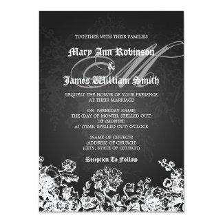 Die elegante viktorianische Hochzeit blühen 11,4 X 15,9 Cm Einladungskarte