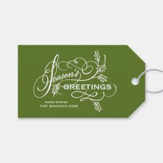 Die eleganten Grüße der grünen Jahreszeit blühen Geschenkanhänger