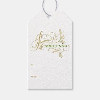 Die eleganten Grüße der Jahreszeit blühen Feiertag Geschenkanhänger