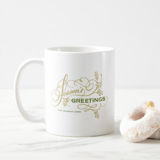 Die eleganten Grüße der Jahreszeit blühen Kaffeetasse
